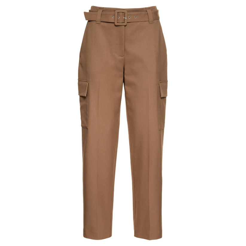 Artikel klicken und genauer betrachten! - Hallhuber Military-Hose für Damen Gr. 34 in karamell | im Online Shop kaufen