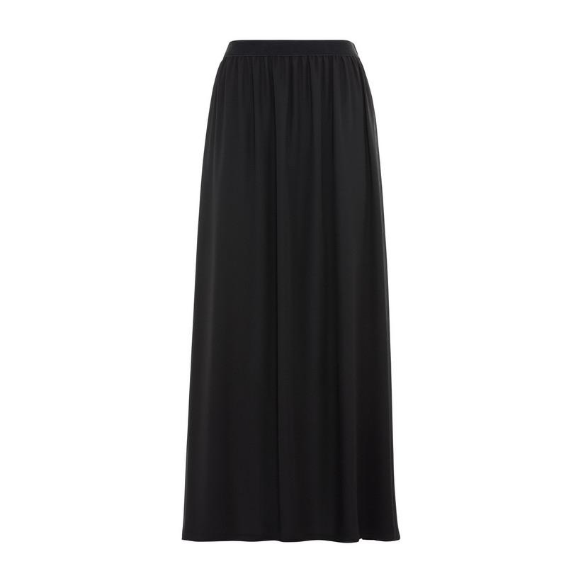 Artikel klicken und genauer betrachten! - Hallhuber Maxirock aus Georgette für Damen Gr. 34 in schwarz | im Online Shop kaufen