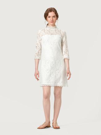 Weiß spitzenkleider kurz Weiße Kleider